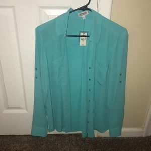 Women's Express button up blouse new with tags!